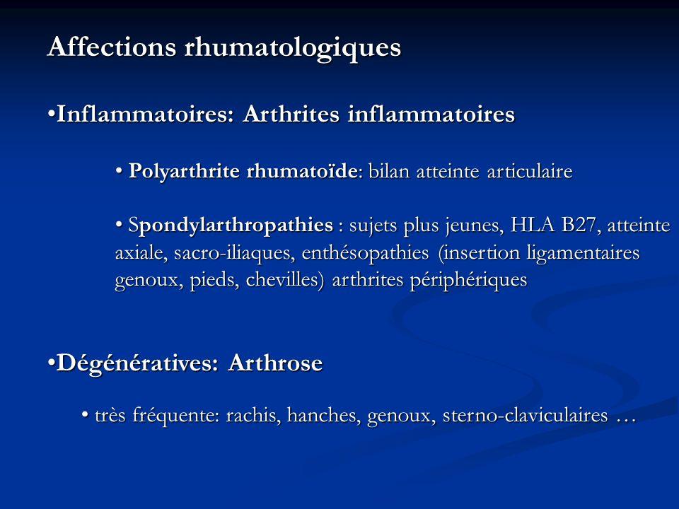Affections rhumatologiques