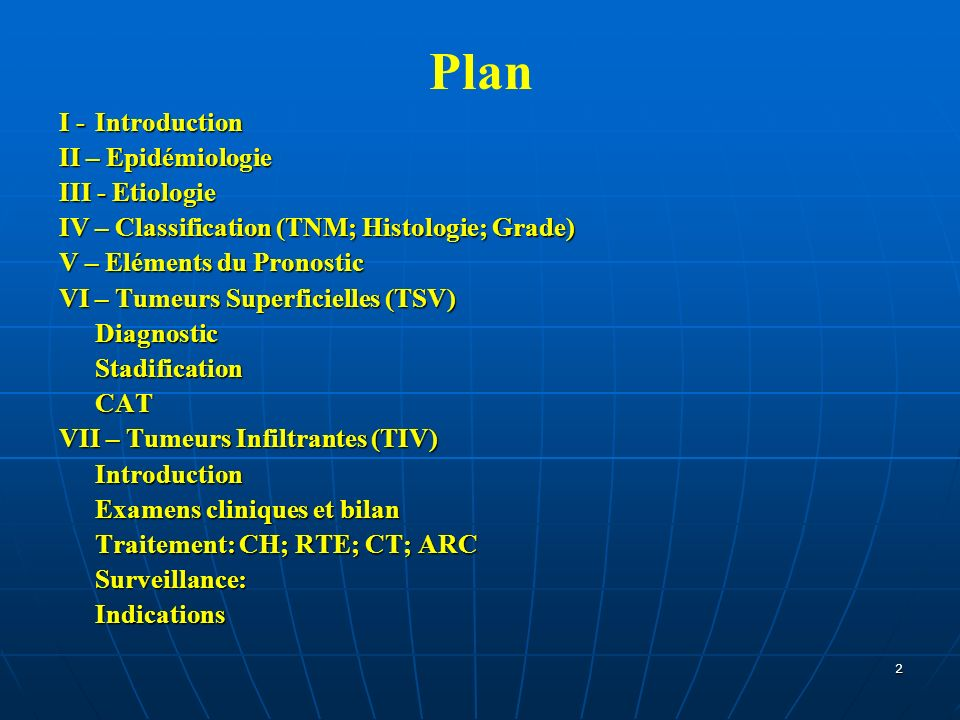 Plan I - Introduction II – Epidémiologie III - Etiologie