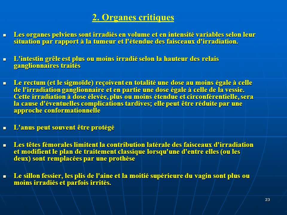 2. Organes critiques