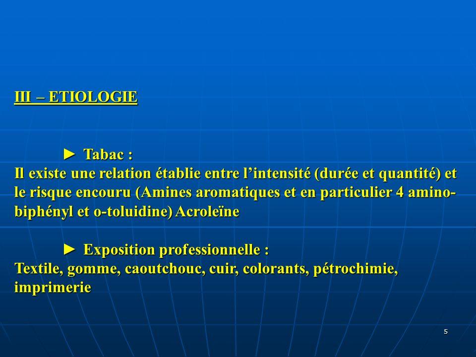III – ETIOLOGIE ► Tabac :