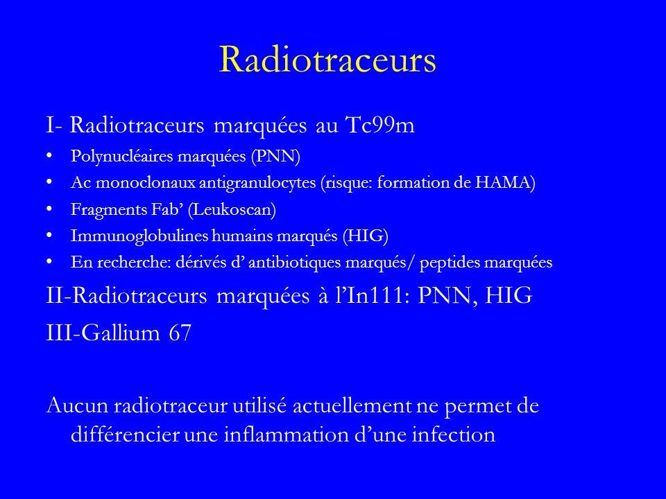 Radiotraceurs I- Radiotraceurs marquées au Tc99m