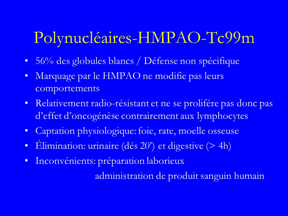 Polynucléaires-HMPAO-Tc99m
