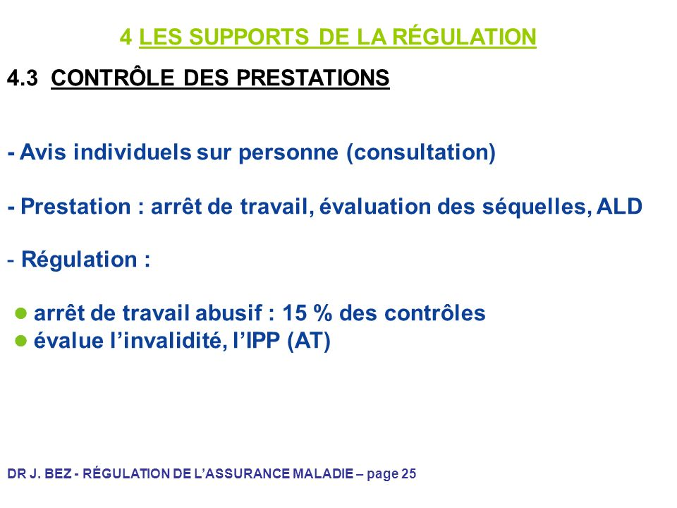 4 LES SUPPORTS DE LA RÉGULATION