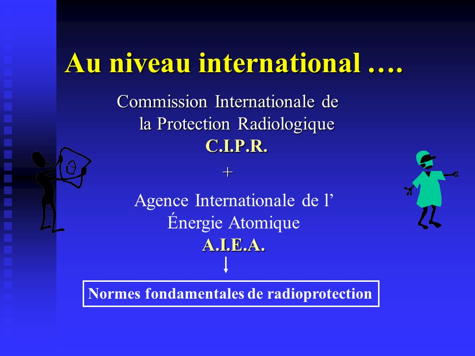 Au niveau international ….