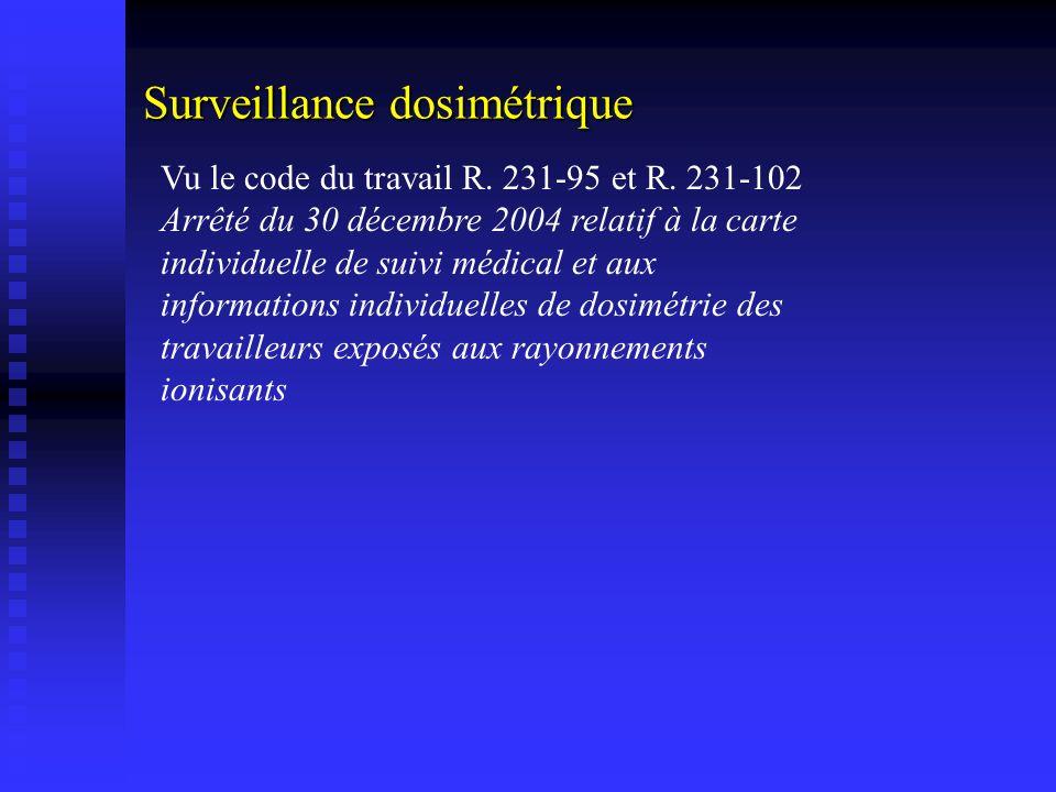 Surveillance dosimétrique