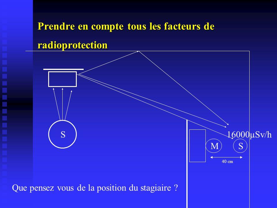 Prendre en compte tous les facteurs de radioprotection