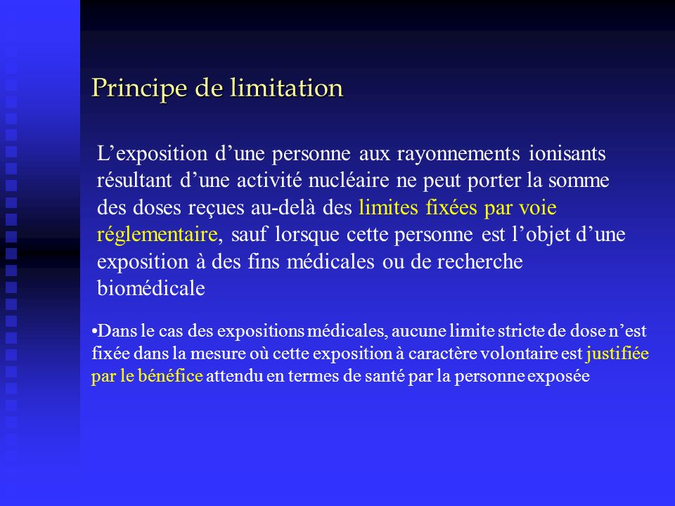 Principe de limitation