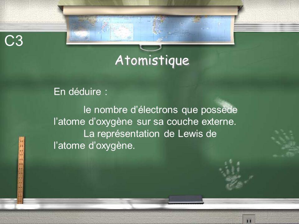 C3 Atomistique En déduire :