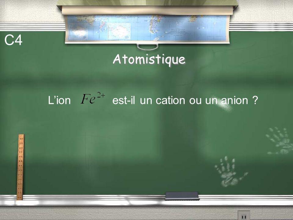 C4 Atomistique L'ion est-il un cation ou un anion