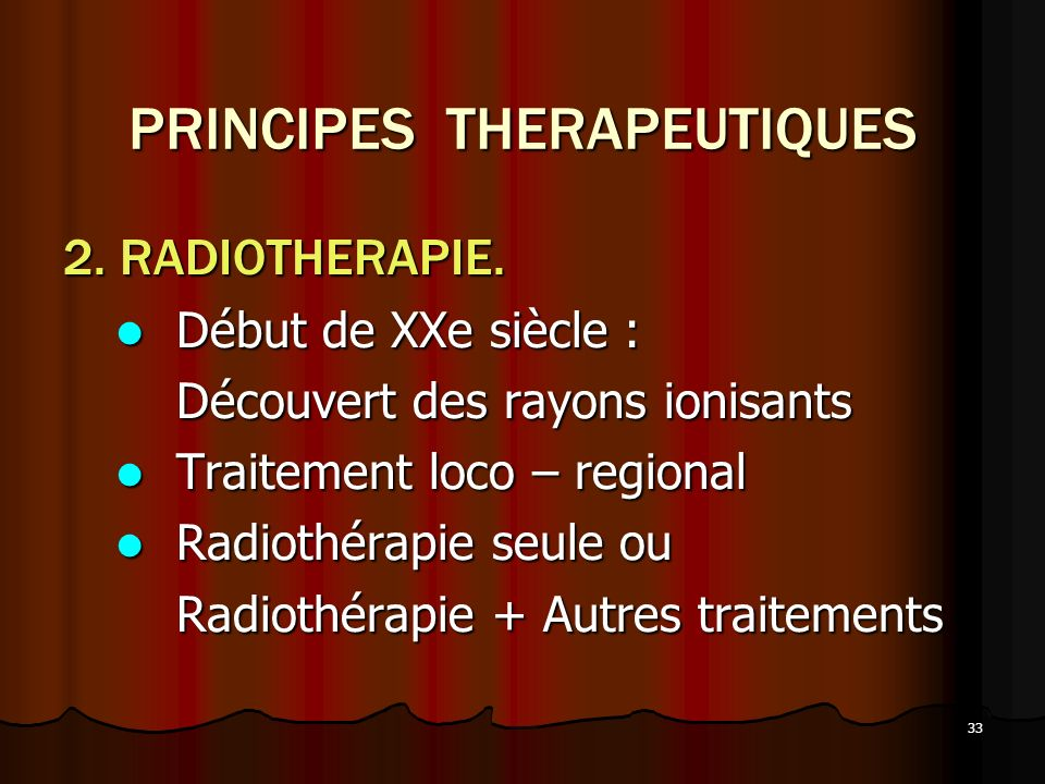 PRINCIPES THERAPEUTIQUES