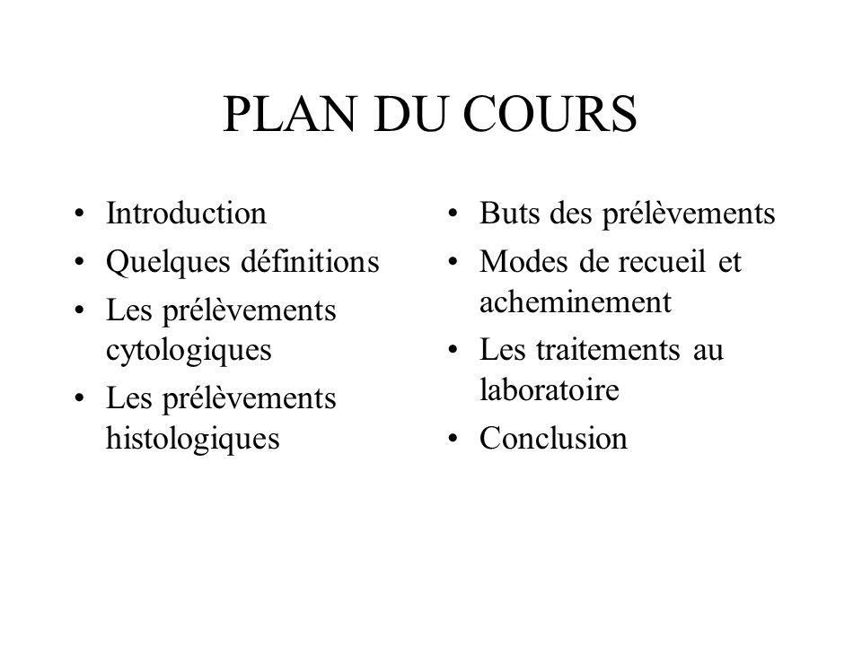PLAN DU COURS Introduction Quelques définitions
