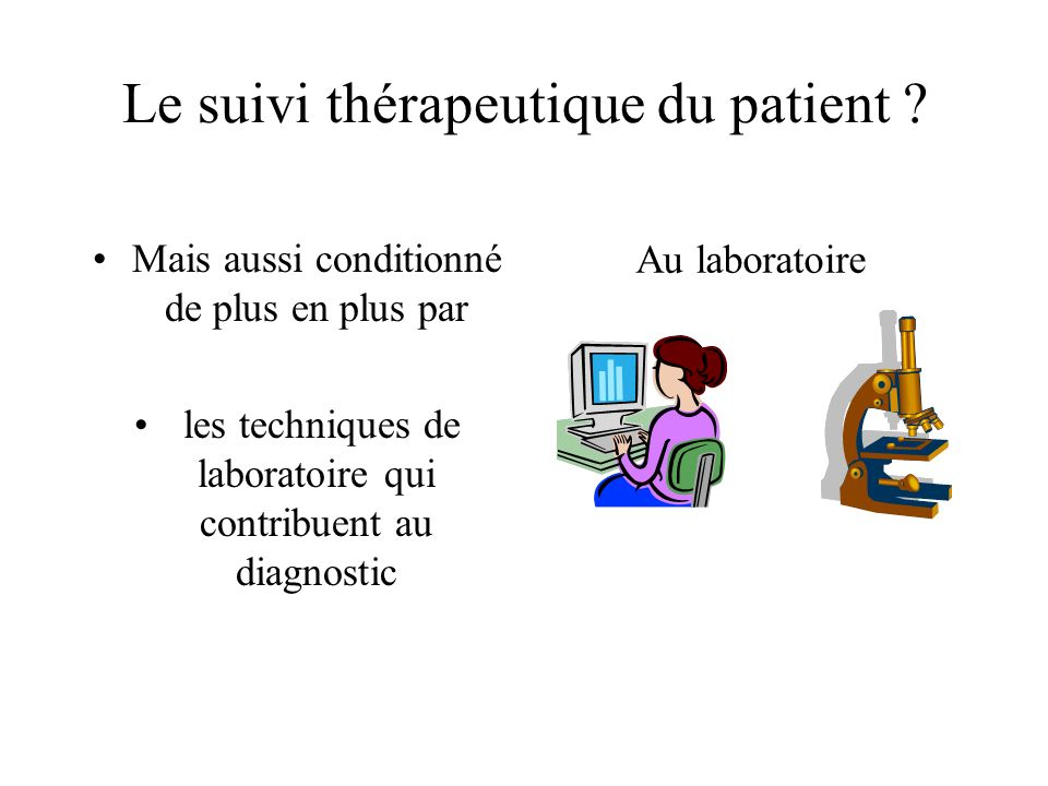 Le suivi thérapeutique du patient