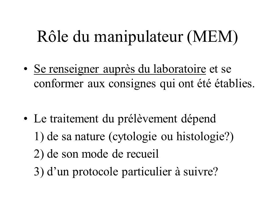 Rôle du manipulateur (MEM)
