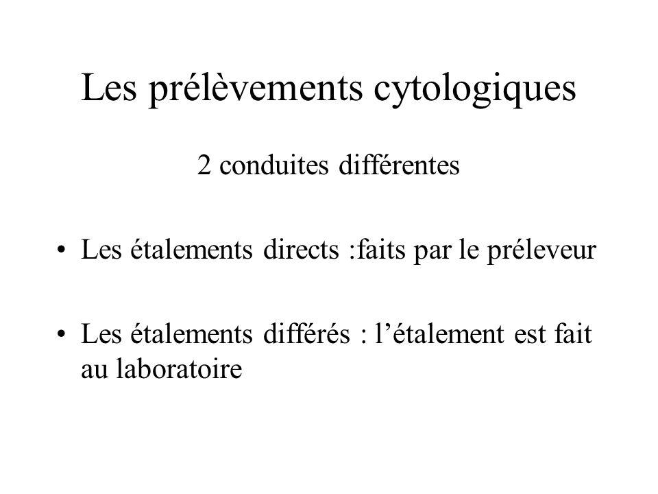 Les prélèvements cytologiques