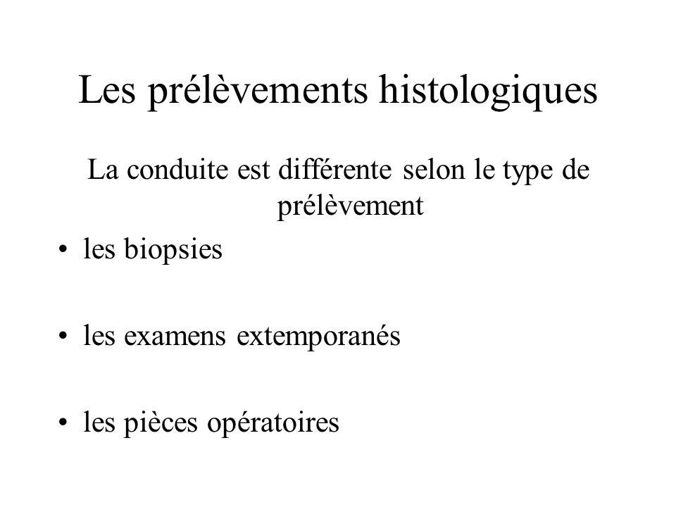 Les prélèvements histologiques