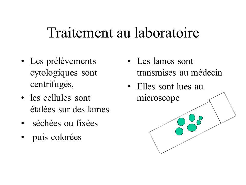 Traitement au laboratoire