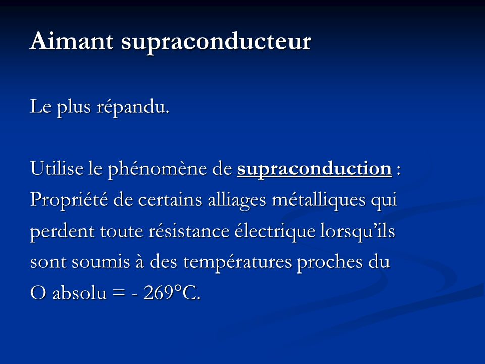 Aimant supraconducteur