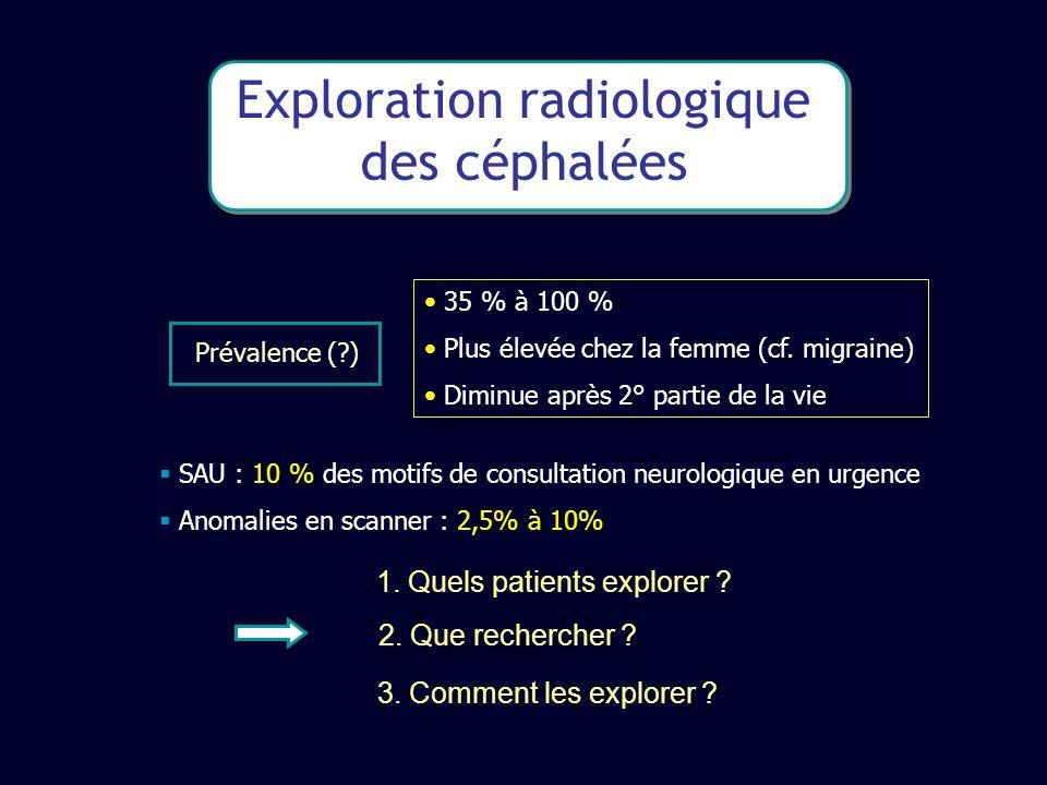 Exploration radiologique des céphalées