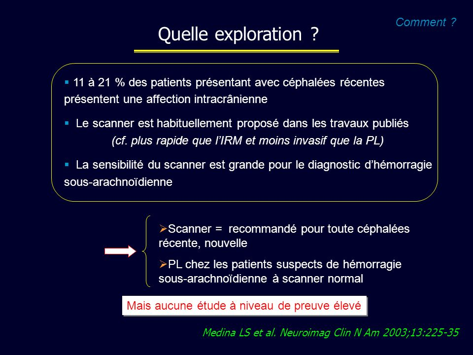 Quelle exploration Comment
