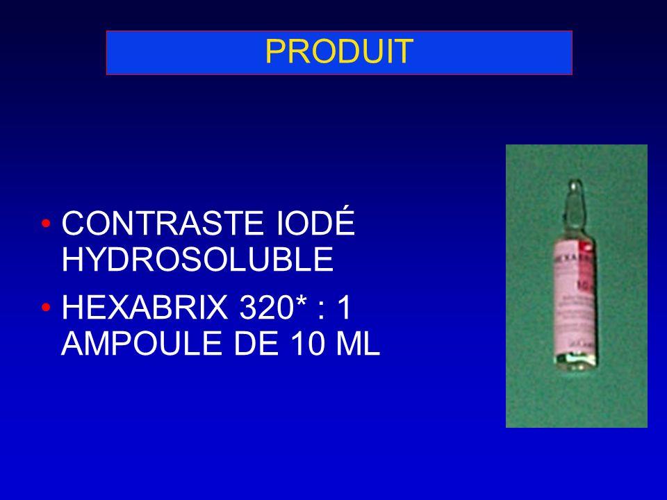 PRODUIT CONTRASTE IODÉ HYDROSOLUBLE HEXABRIX 320* : 1 AMPOULE DE 10 ML