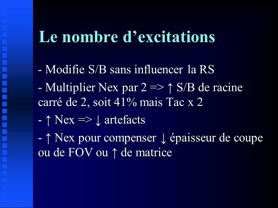 Le nombre d'excitations