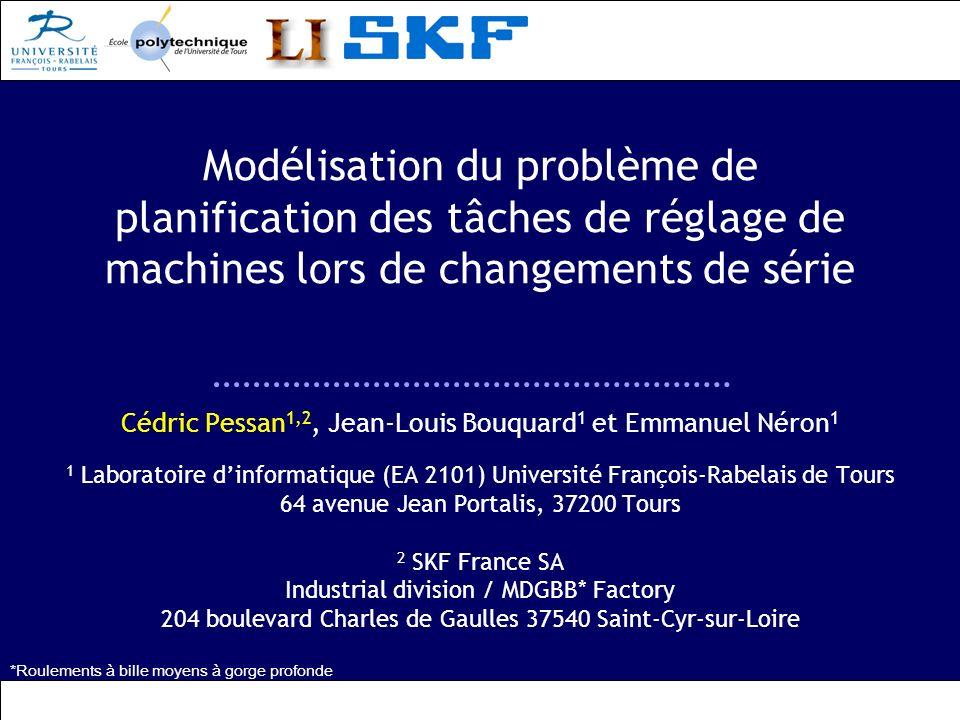Modélisation du problème de planification des tâches de réglage de machines lors de changements de série