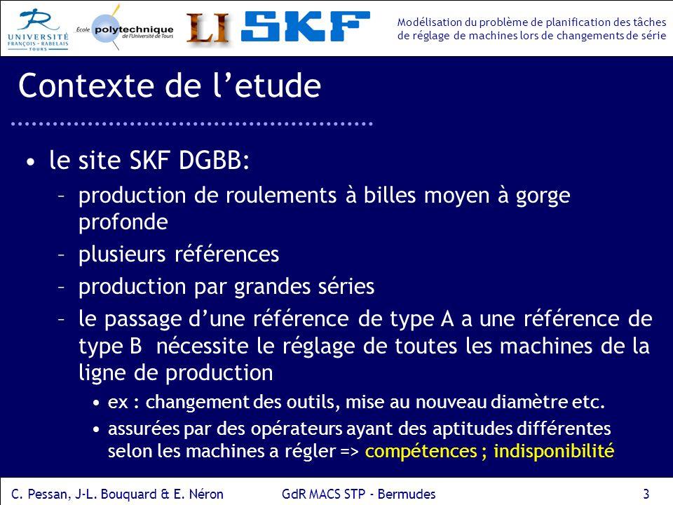 Contexte de l'etude le site SKF DGBB: