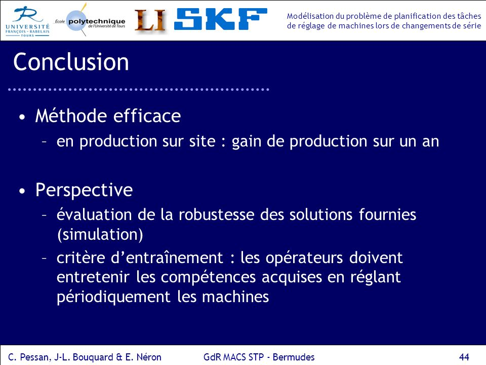 Conclusion Méthode efficace Perspective