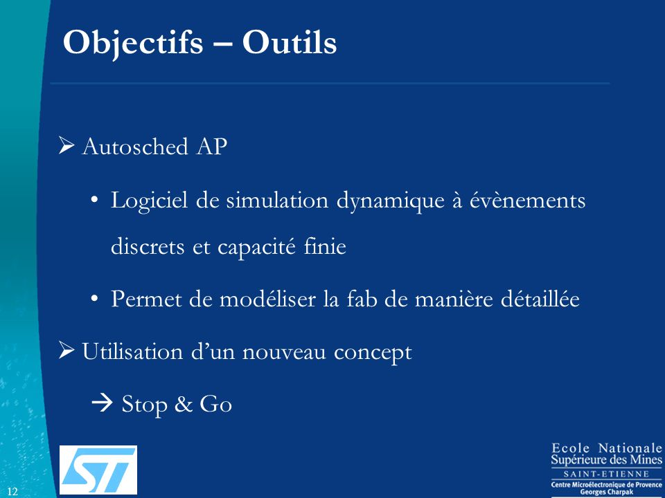 Objectifs – Outils Autosched AP