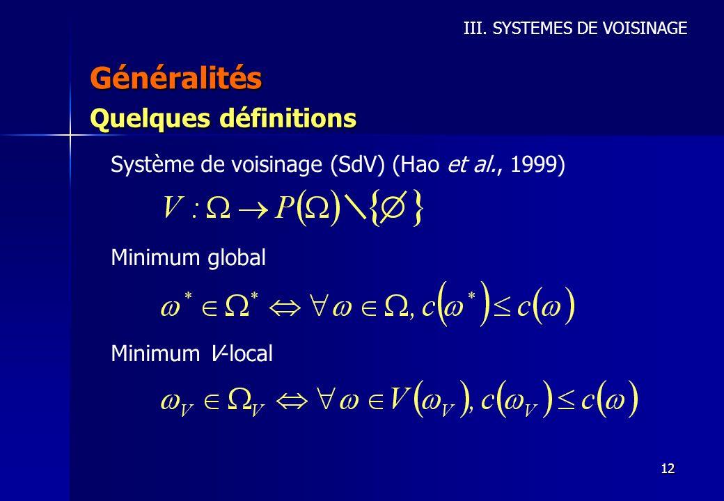 Généralités Quelques définitions