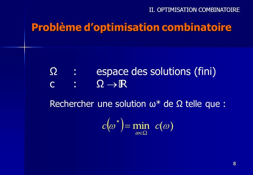 Problème d'optimisation combinatoire