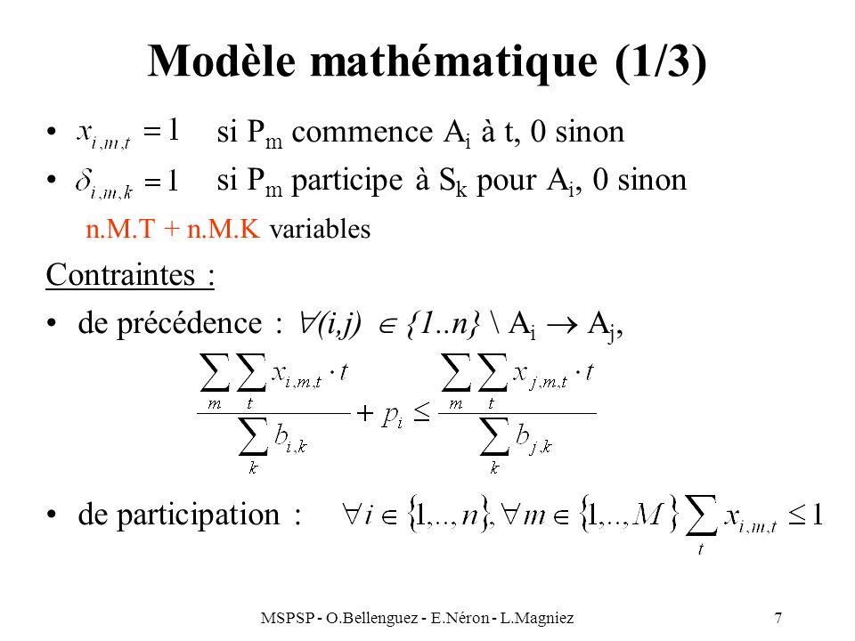 Modèle mathématique (1/3)
