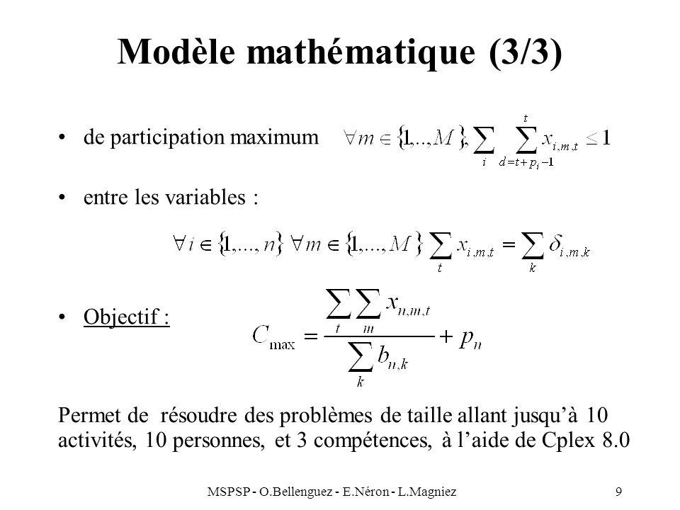 Modèle mathématique (3/3)