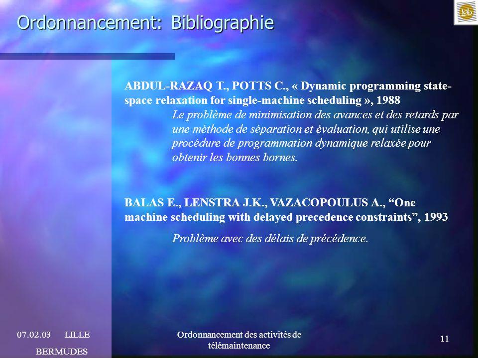 Ordonnancement: Bibliographie