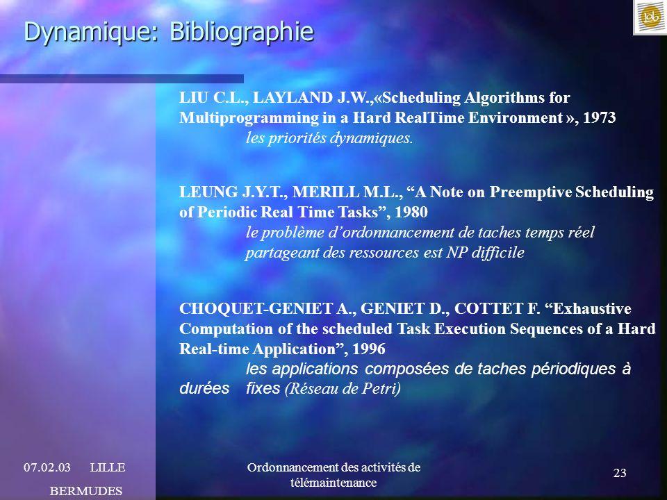 Dynamique: Bibliographie