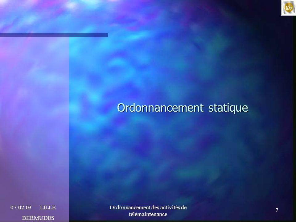 Ordonnancement statique