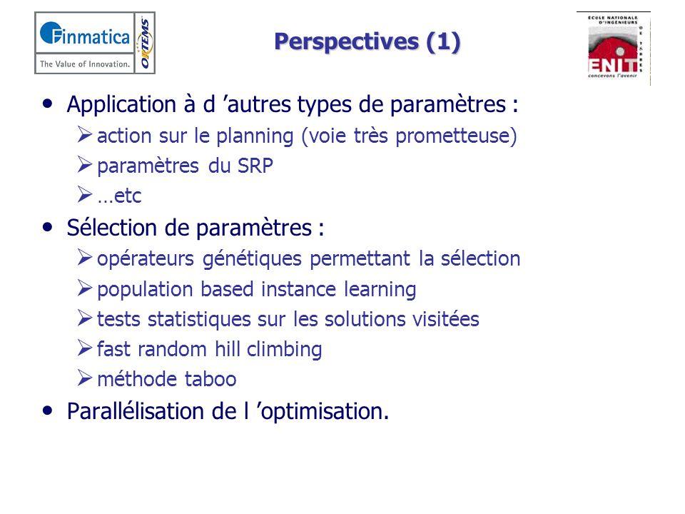 Application à d 'autres types de paramètres :