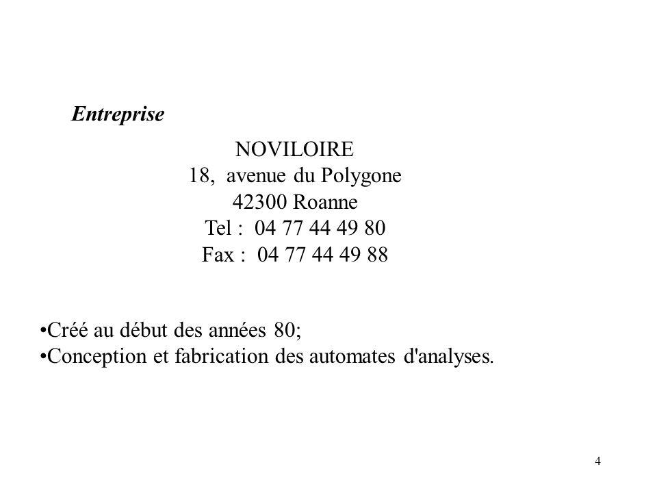 Entreprise NOVILOIRE. 18, avenue du Polygone. 42300 Roanne. Tel : 04 77 44 49 80. Fax : 04 77 44 49 88.