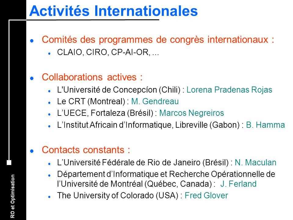 Activités Internationales