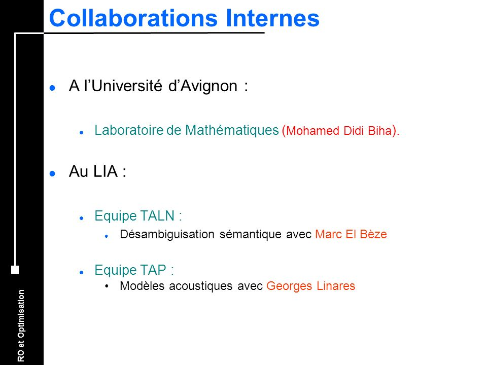 Collaborations Internes
