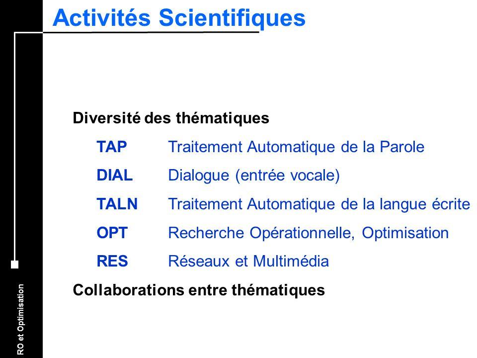 Activités Scientifiques