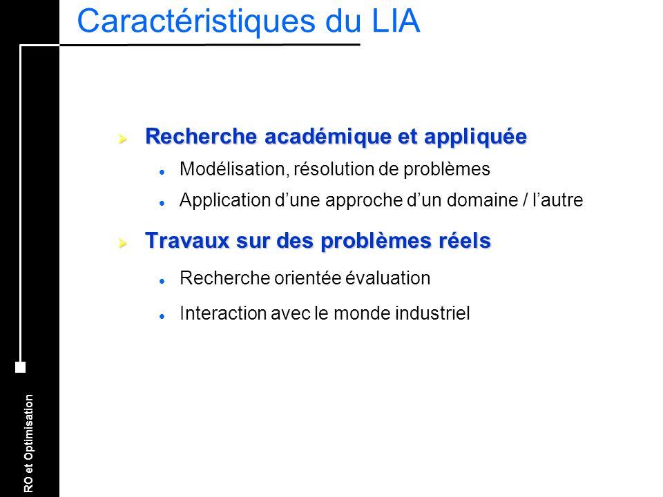 Caractéristiques du LIA