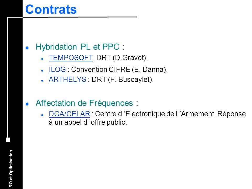 Contrats Hybridation PL et PPC : Affectation de Fréquences :