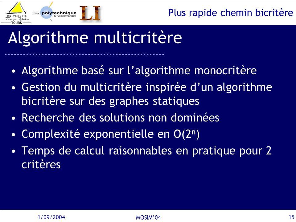 Algorithme multicritère