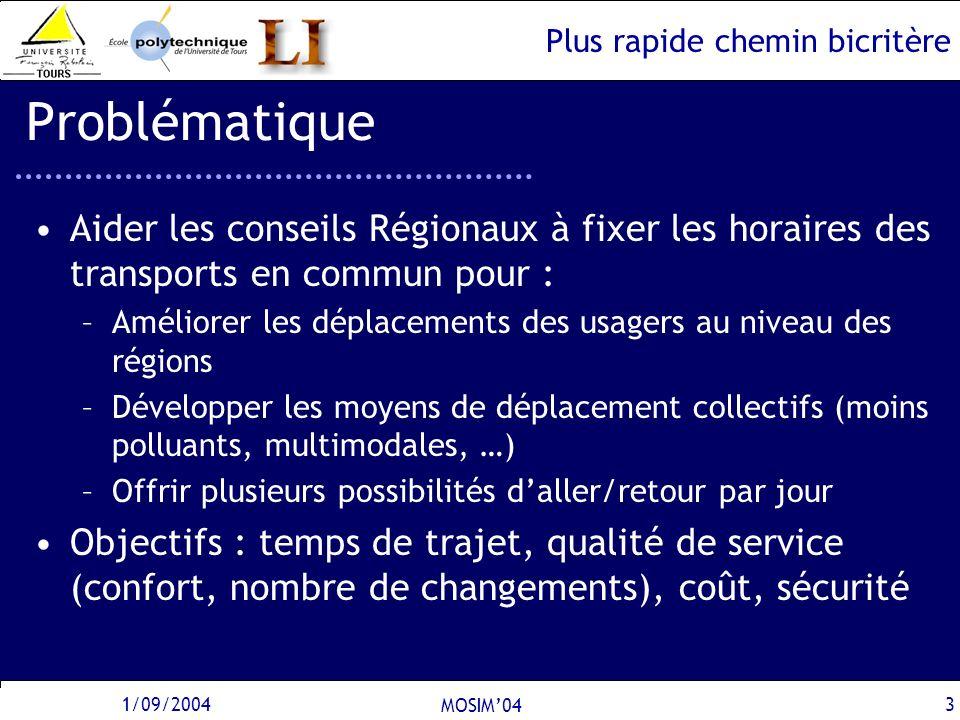 Problématique Aider les conseils Régionaux à fixer les horaires des transports en commun pour :