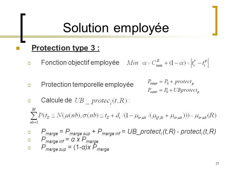 Solution employée Protection type 3 : Fonction objectif employée