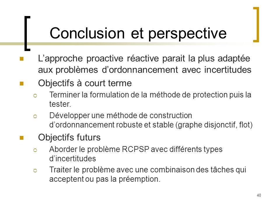 Conclusion et perspective
