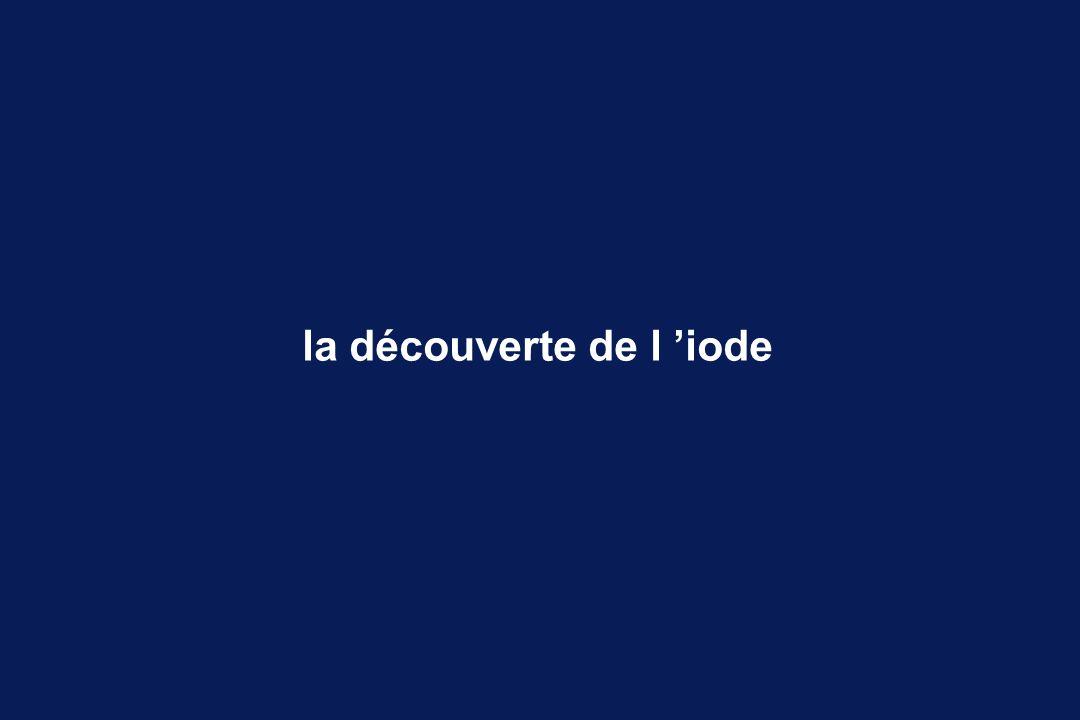 la découverte de l 'iode