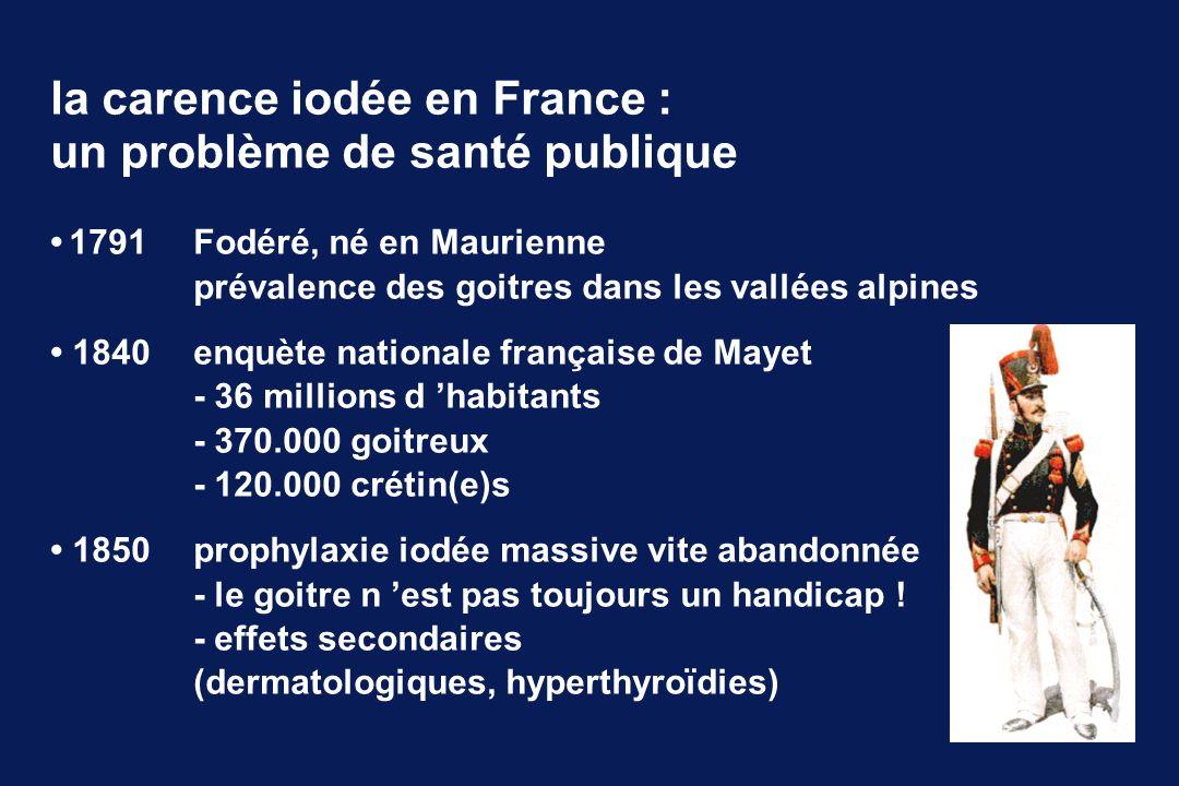 la carence iodée en France : un problème de santé publique