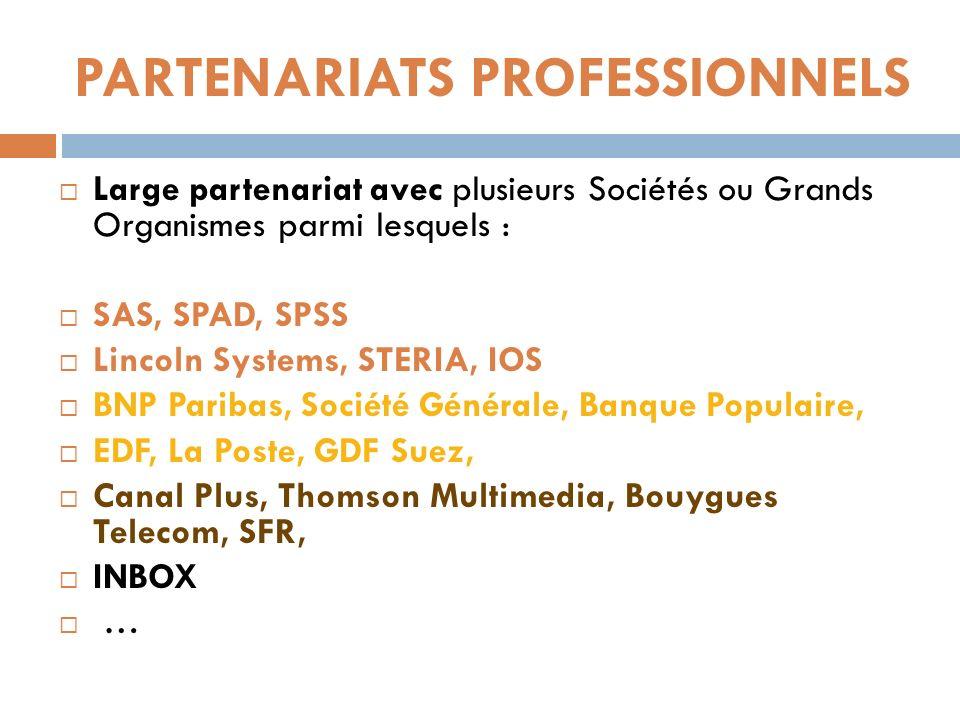 PARTENARIATS PROFESSIONNELS